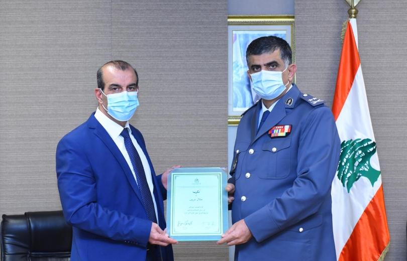 شهادتان من مؤسسة الانتربول تكريما للشهيدين الرائد جلال شريف والمؤهل زياد العطار