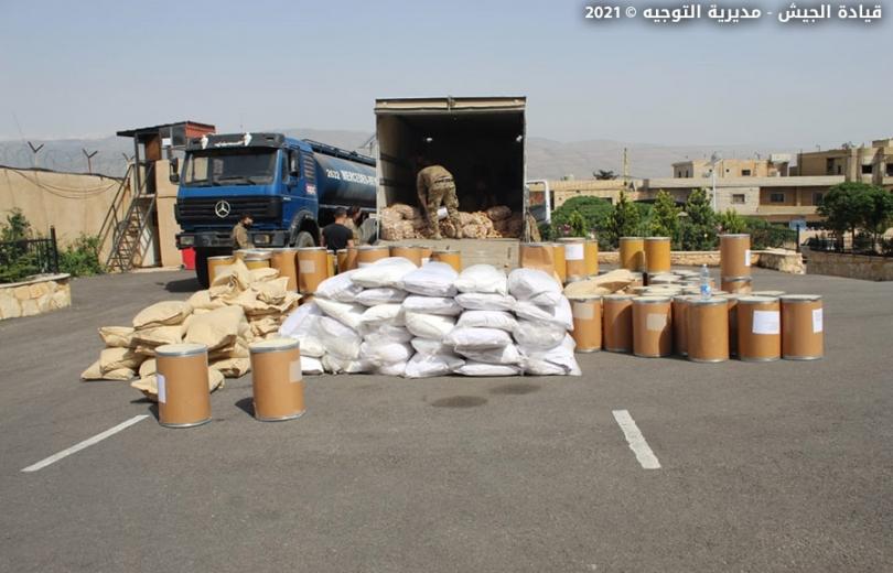 الجيش : توقيف أشخاص وضبط سيارات مسروقة في الهرمل