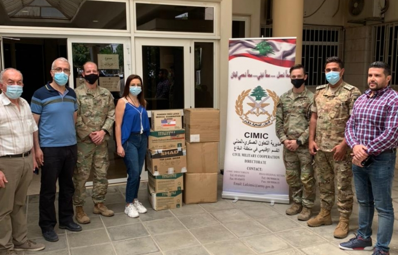 مديرية التعاون العسكري - المدني توزع مساعدات الى مستشفيات البقاع الحكومية