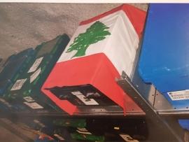 العلم اللبناني يلف البذور اللبنانية في نفق