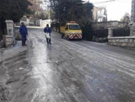 إقفال مدارس وأضرار في المزروعات في بعلبك بسبب الجليد