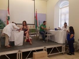 فحوصات IGG ANTIBODY TESTINGG في قصر بلدية زحلة اليوم بالتعاون مع مركز MCC الطبي