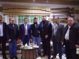 الدكتور يوسف ساسين في لقاء انتخابي في دارة الحاج حسين المصري