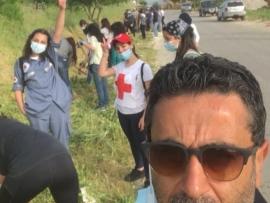 ساسين يواصل حملة التشجير في البقاع الشرقي