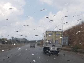 هطول أمطار وتنبيه من Lari من خطر التزحلق