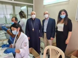 حملة تلقيح لطلاب الصفوف الثانوية لمدارس زحلة في مستشفى تل شيحا